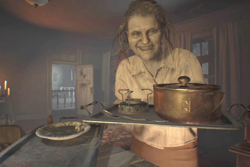 Scary Woman - Resident Evil 7: Biohazard 3840x2160 wallpaper