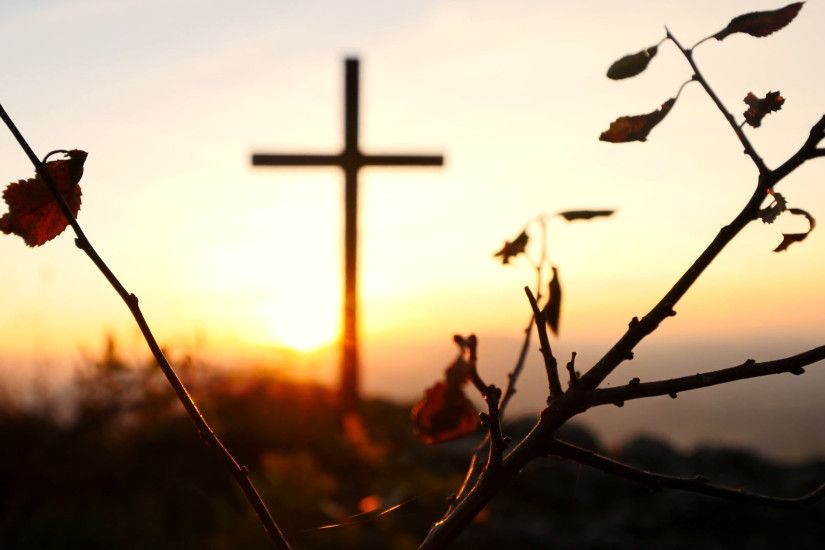 grave cross in nature landscape. graveyard background. peaceful sunset  scenery Stock Video Footage - VideoBlocks