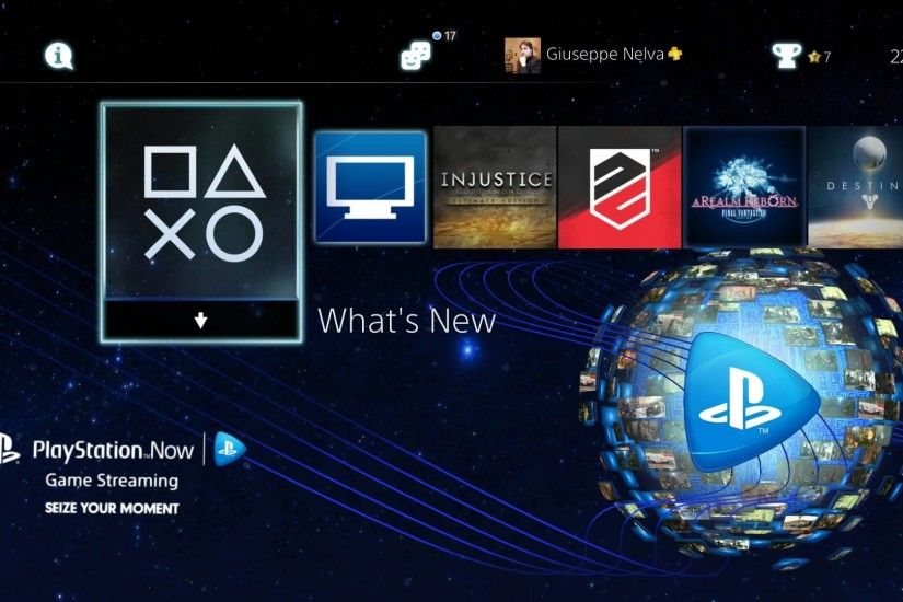 Free PlayStation Now PS4 Dynamic Theme Just Released by Sony on the PSN;  Screenshots Inside