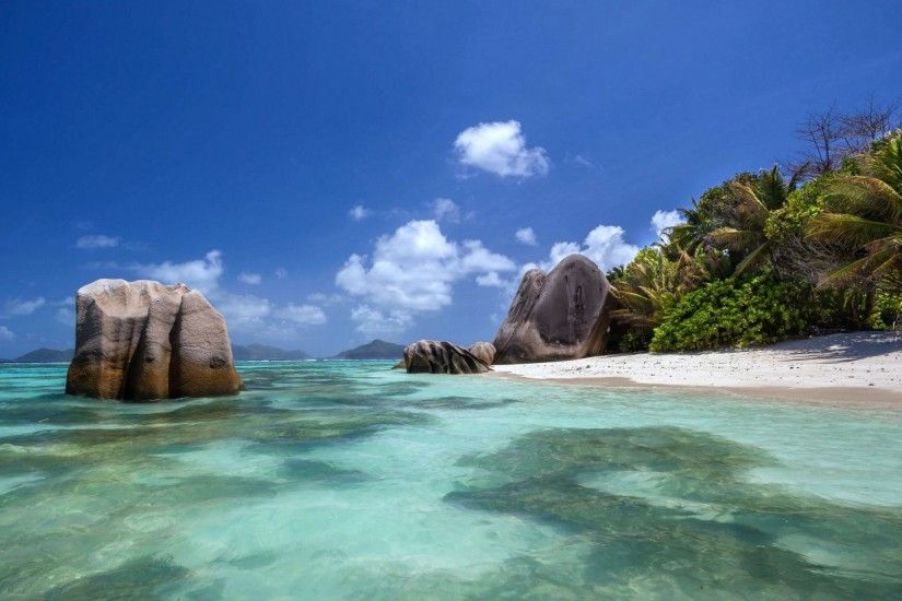 Beaches - Island Seychelles Nature Beach Wallpaper Best Beaches for HD 16:9  High Definition