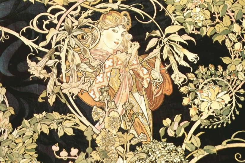 Free Download Alphonse Mucha Wallpaper