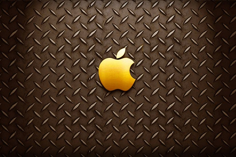 Gold Apple Logo Wallpaper