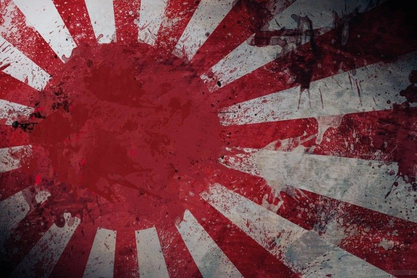 Japanese Art Flag Free HD Wallpaper