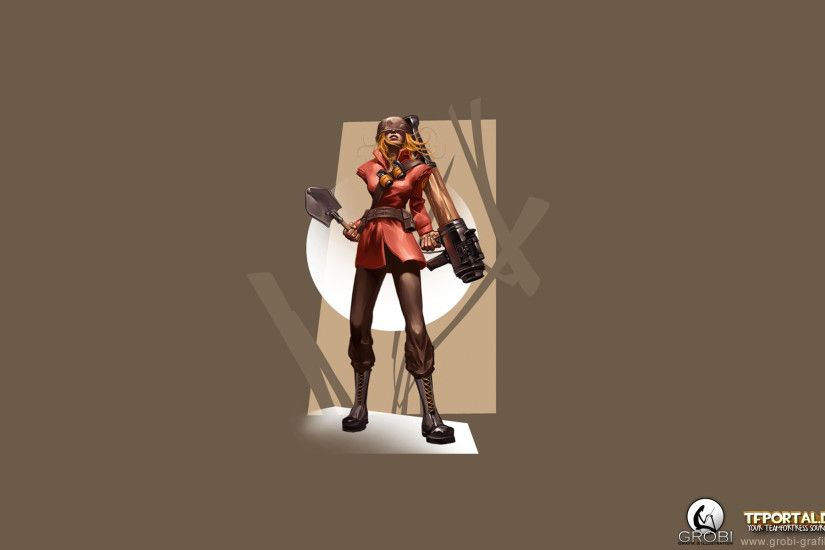 TF2 Girl Soldier Wallpaper. 1920x1080