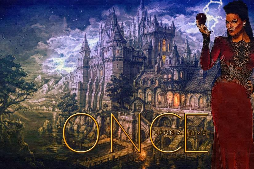 once upon a time the evil queen evil queen regina mills lana parrilla  castle Wallpaper HD