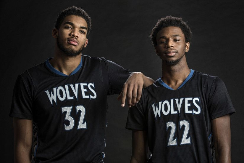 Andrew Wiggins and Karl-Anthony Towns: Opposites with a common goal
