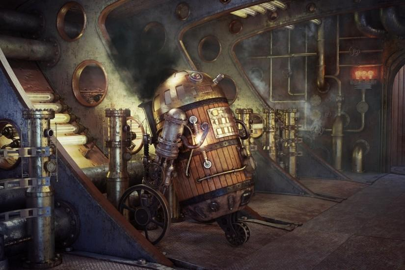steampunk wallpaper 1920x1136 for 1080p