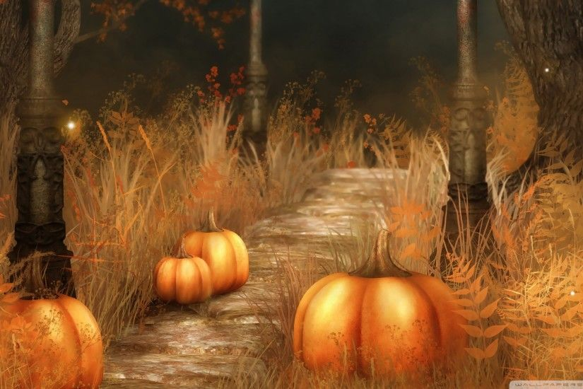 Cute Fall Pumpkins Wallpaper | Pumpkins Halloween Wallpaper Free Download