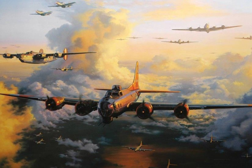 Aircraft military bomber world war ii wallpaper