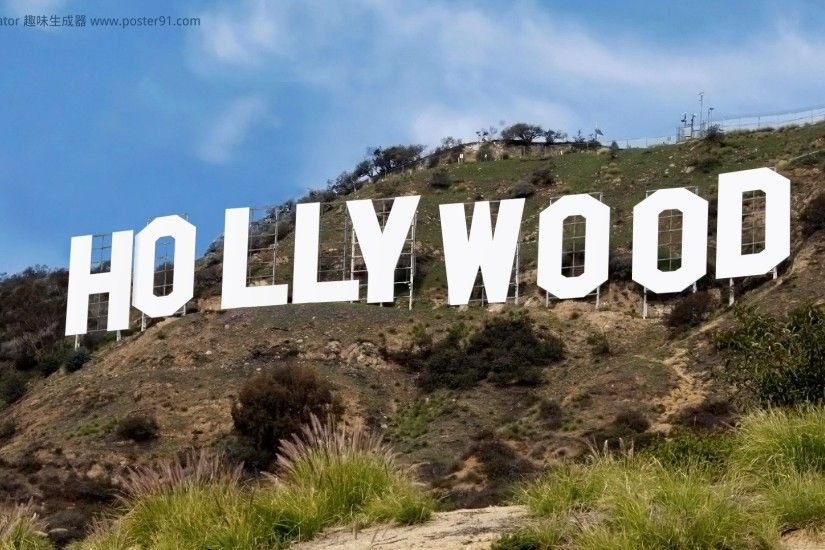 Hollywood sign generator - We believe this is the best one 1920 x 1080  pixels HD Wallpaper image Create your own Hollywood sign image with your  choice of ...