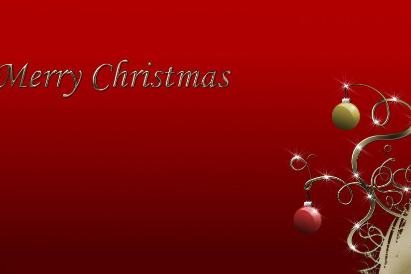 Red and green Christmas baubles wallpaper 1920x1080 jpg