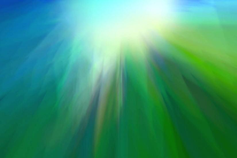 Green Blue Wavy Light Vapor - Background