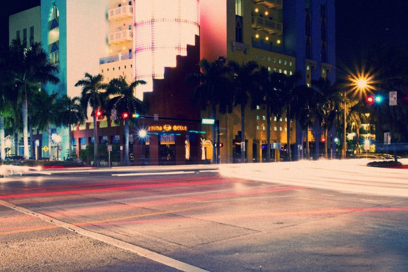 South Beach at night wallpaper #11971