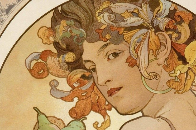 Alphonse Mucha Desktop Wallpaper images 2132x1388. Download resolutions:  Desktop: 1920x1080 ...
