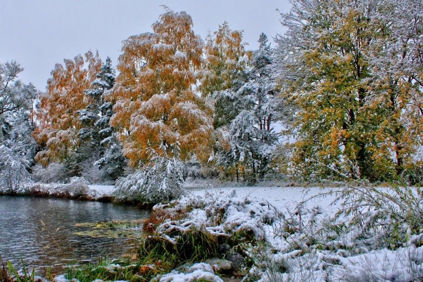 Landscapes, Dual Screen Shore, Background Images,nature, Peace, Desktop  Images, Autumn, Grass, Windows Wallpaper, Winter, Lakes, Forests, Frost,  Seasons, ...