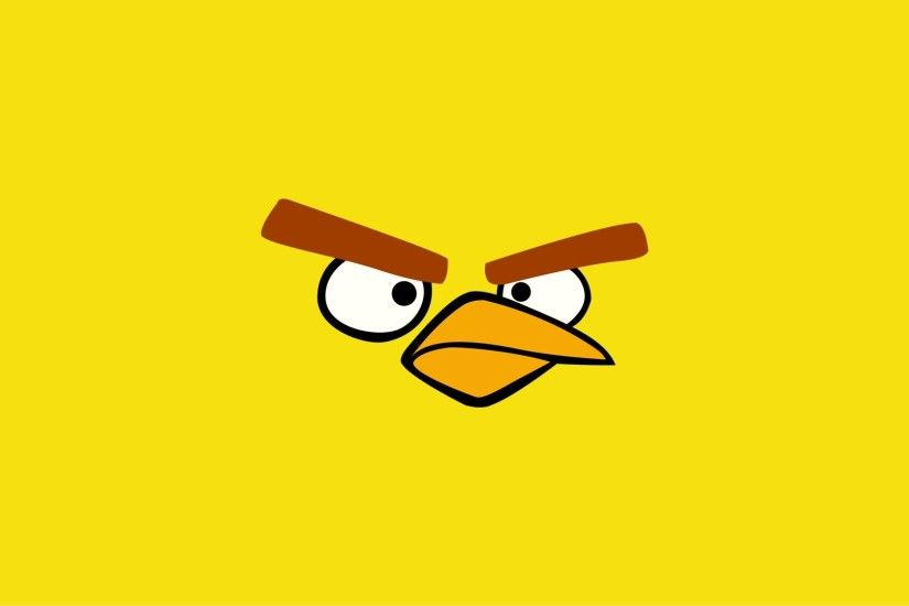 Free Yellow Angry Bird Wallpaper