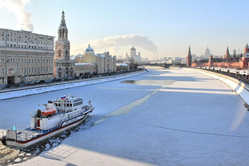 Winter in Moscow wallpaper