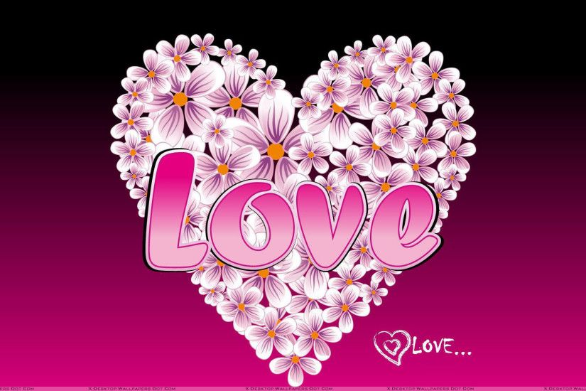 Love Pink Hearts Flower Art Wallpapers | WallpapersGround.com