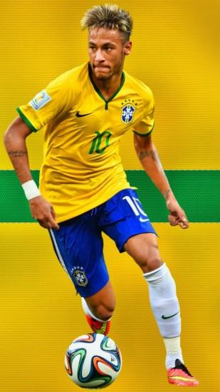 Preview wallpaper neymar, barcelona, brazil, football 1080x1920