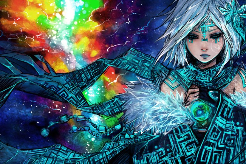 Anime - Unknown Woman Mage Fantasy Wallpaper