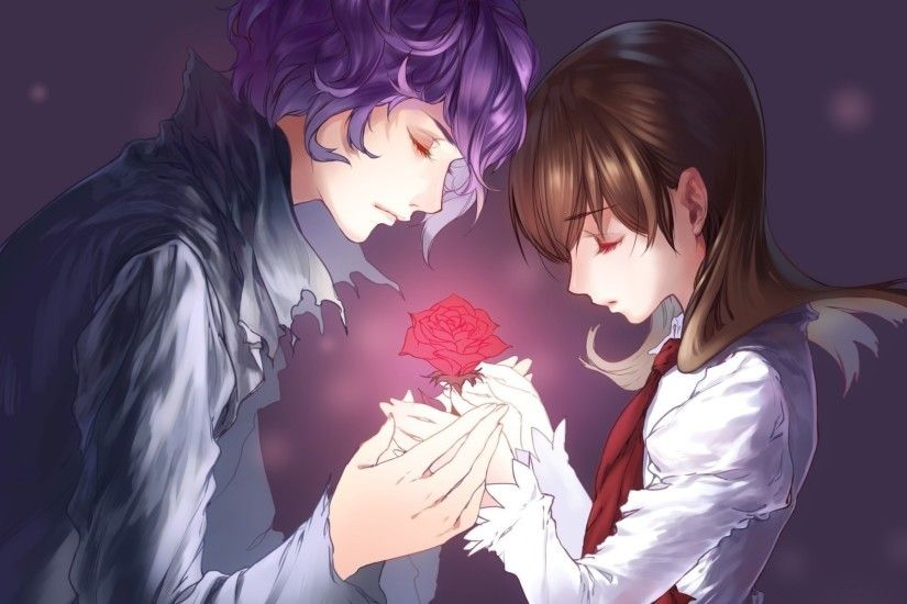 1920x1200 Romantic Anime Couple Wallpaper