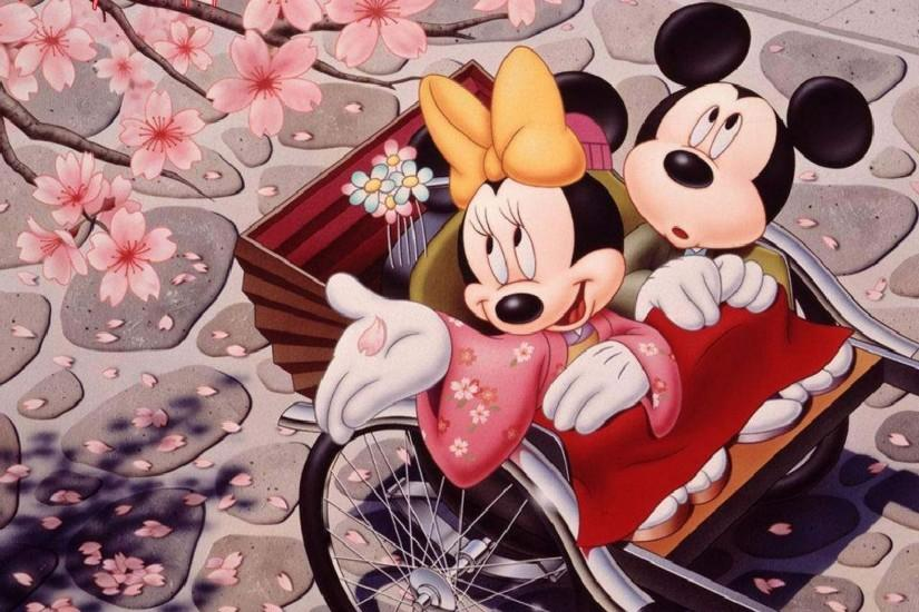 Romantic-Mickey-Mouse-and-Minnie-Mouse-Japanese-Cherry-