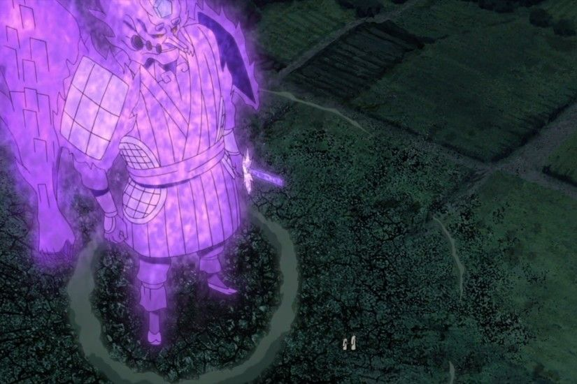 Indra's Susanoo is purple because of his inner darkness.
