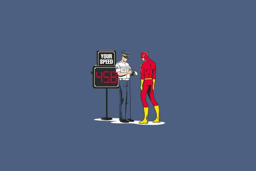 Dc Comics Flash Superhero Funny Minimalistic Police Superheroes The  Wallpaper
