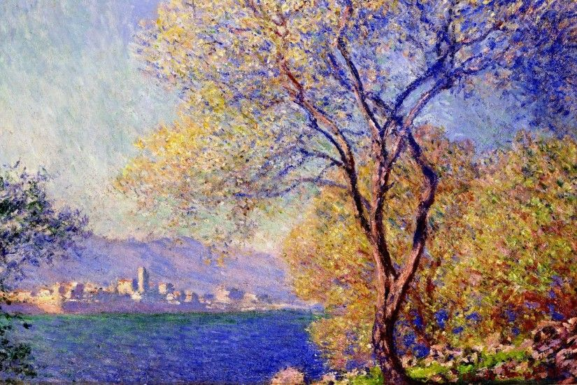 Wallpaper claude monet antibes seen from the salis gardens