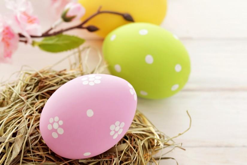 Eggs Easter pink yellow green spring holiday wallpaper | 2560x1600 .