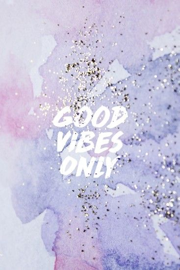 Good vibes only pastel purple wallpaper/background