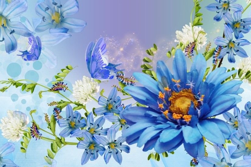 Beautiful Spring Blue Blossoms Bright Clover Blues Papillon Butterfly  Fleurs Lavender Blooms Flowers Summer Flower Wallpapers