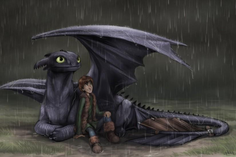 Raining Hiccup and toothless wallpaper | 1920x1080 | 545854 | WallpaperUP