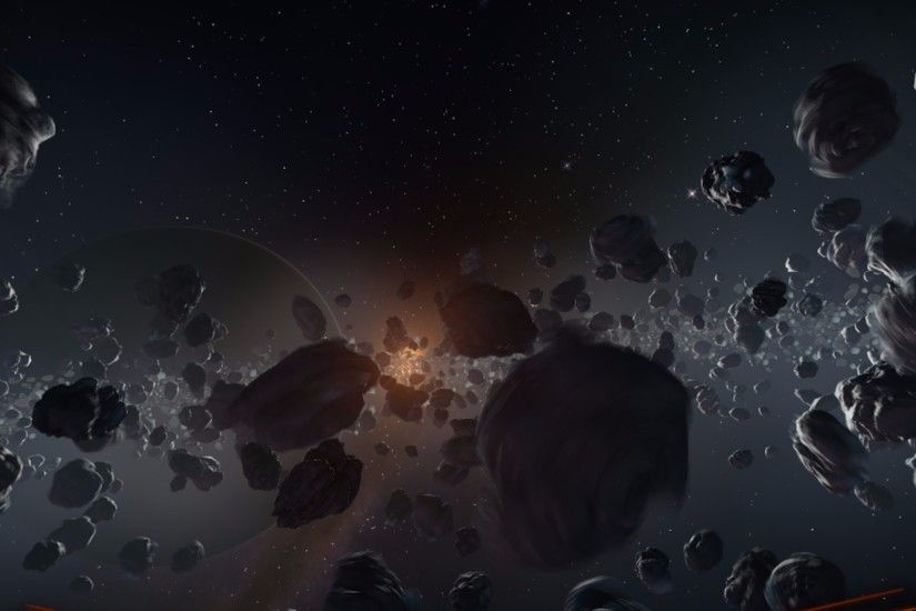 Cool Asteroid Cluster 4K Wallpaper