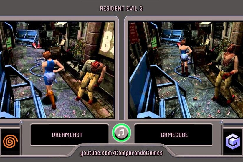 Resident Evil 3 Nemesis (Dreamcast vs Gamecube) Side by Side Comparison  (Bio Hazard 3 Last Escape) - YouTube