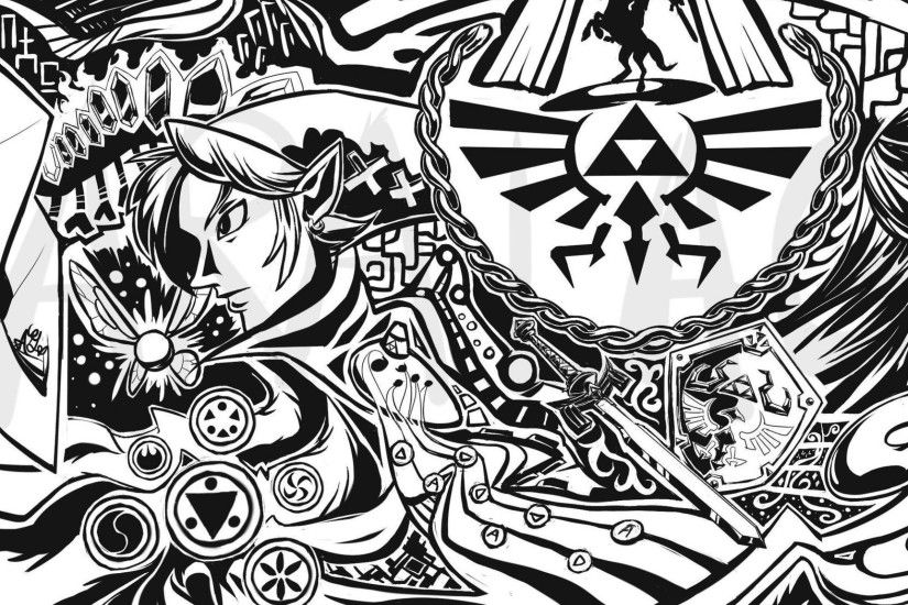link triforce ocarina of time the legend of zelda majoras mask navi  windwaker 2324x1245 wallpaper Wallpaper