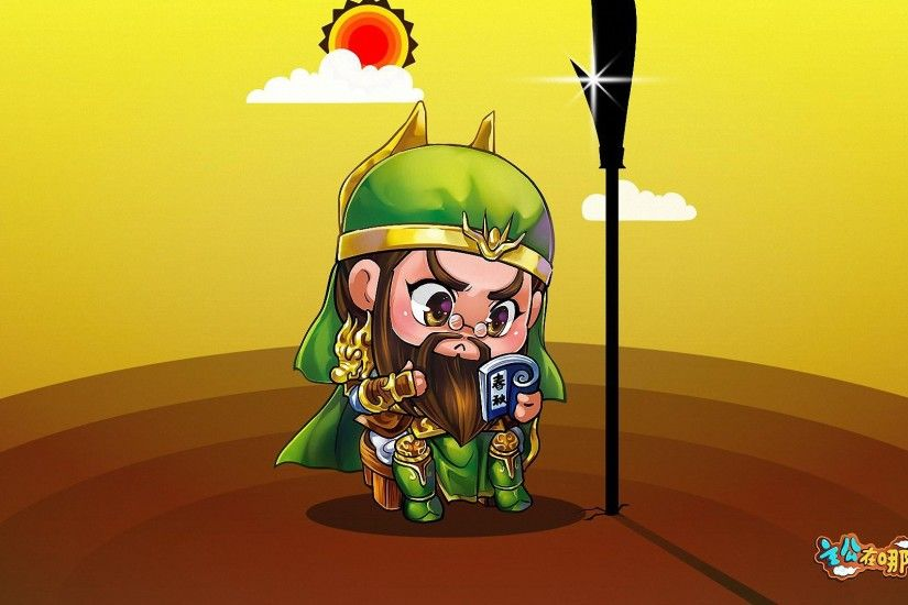 funny cartoon guan yu HD wallpapers
