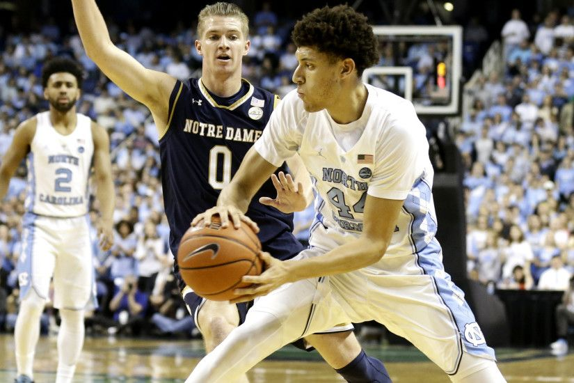 College basketball: North Carolina tops Notre Dame in relocated game - LA  Times