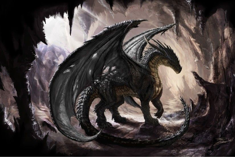 Download Black Dragon wallpaper (1920x1200)