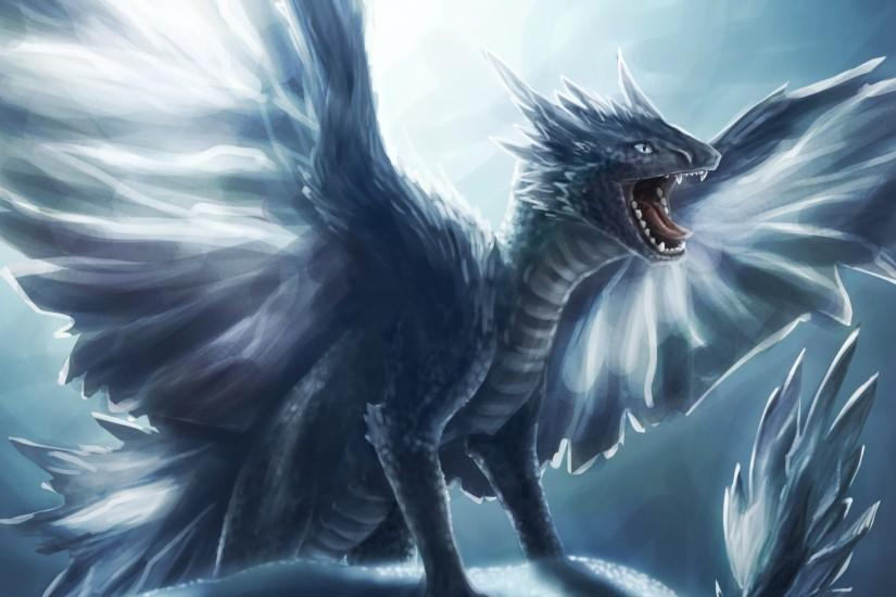 Ice Dragon Background Wallpapers