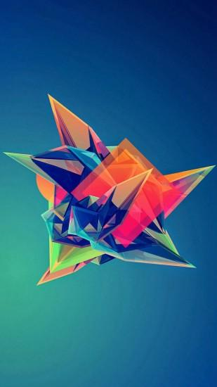 Colorful Cool Abstract Polygonal Shape #iPhone #7 #wallpaper