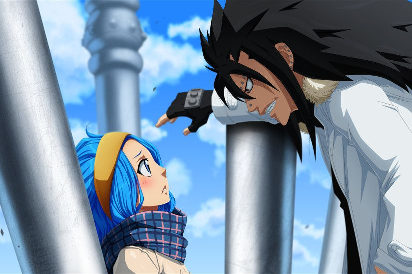 Anime Fairy Tail Levy McGarden Gajeel Redfox Wallpaper