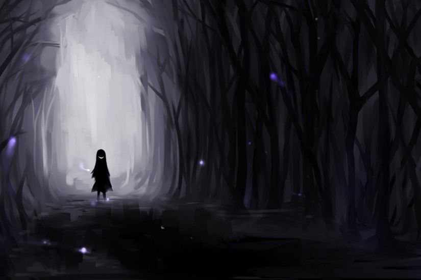 Alone Anime Girl HD Desktop Wallpaper 21320
