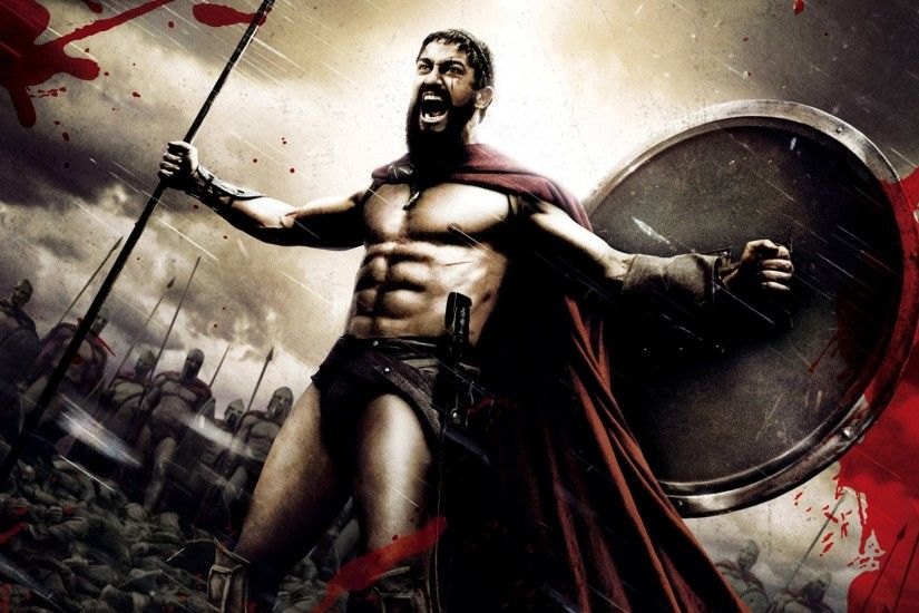 Preview wallpaper 300, spartan, warrior, rage, strong, gerard butler, king