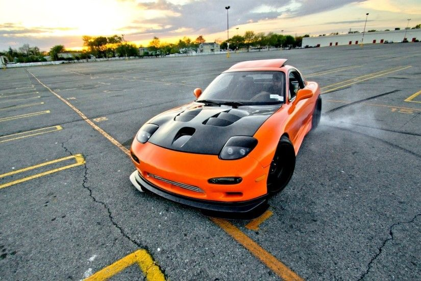 Wonderful Cars Vehicles Drifting Tuned Mazda Rx7 (1920x1080, Vehicles, Drifting,  Tuned, Mazda