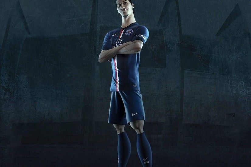 Zlatan Ibrahimovic PSG Jersey 2014-2015 Home Kit Wallpaper Wide or .