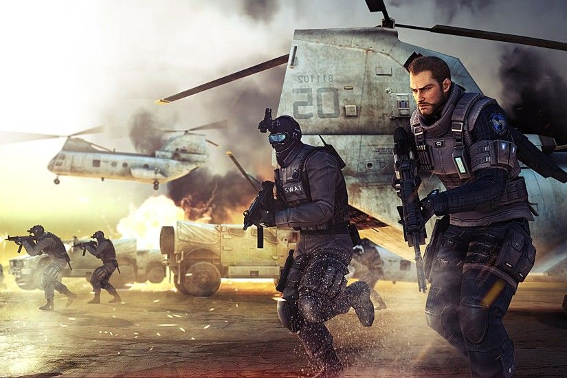 Black Raven And SWAT-Elite Cross Fire | 2560 x 1440 ...