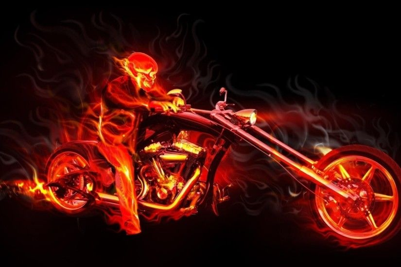 Motorcycle On Fire Wallpapers