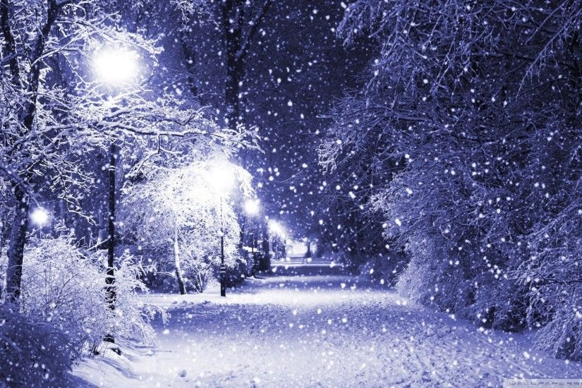 Winter Night HD desktop wallpaper Mobile Dual Monitor