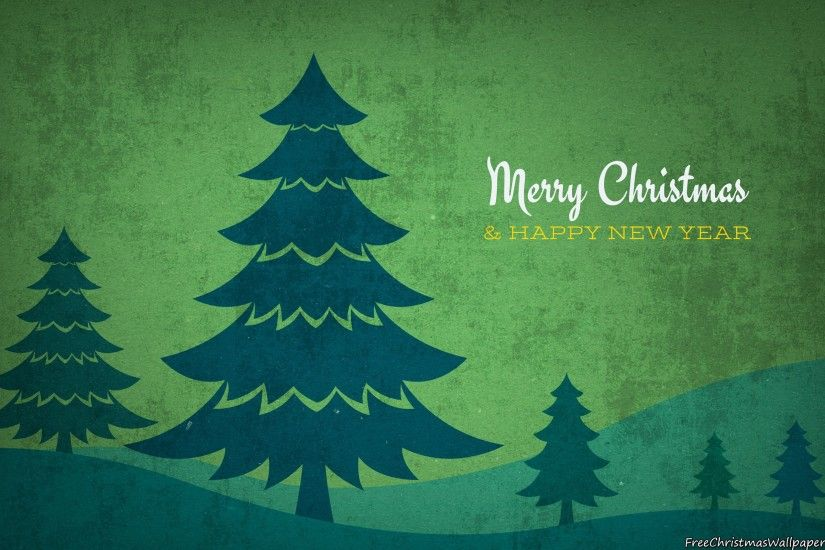 Download Vintage Christmas Trees Background Wallpaper